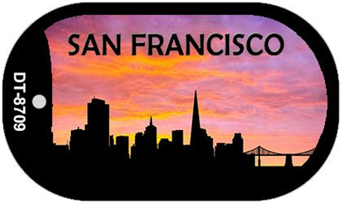 San Francisco Silhouette Novelty Metal Dog Tag Necklace DT-8709