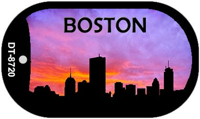 Boston Silhouette Novelty Metal Dog Tag Necklace DT-8720