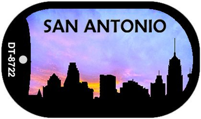 San Antonio Silhouette Novelty Metal Dog Tag Necklace DT-8722
