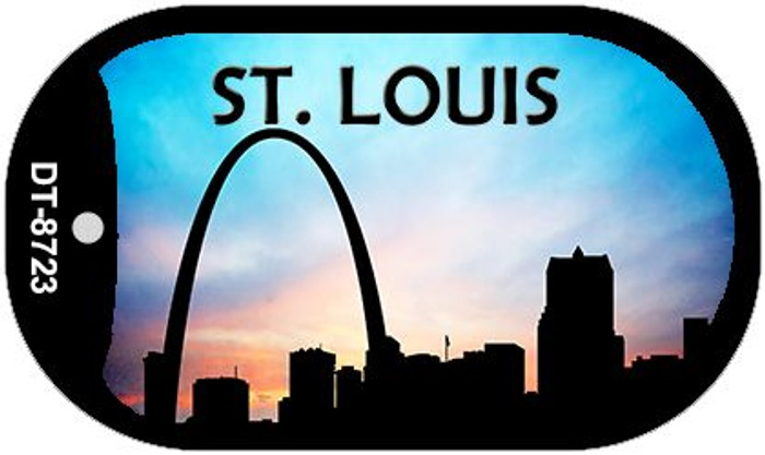 St Louis Silhouette Novelty Metal Dog Tag Necklace DT-8723