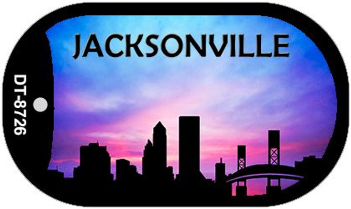 Jacksonville Silhouette Novelty Metal Dog Tag Necklace DT-8726