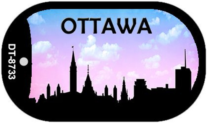 Ottawa Silhouette Novelty Metal Dog Tag Necklace DT-8733