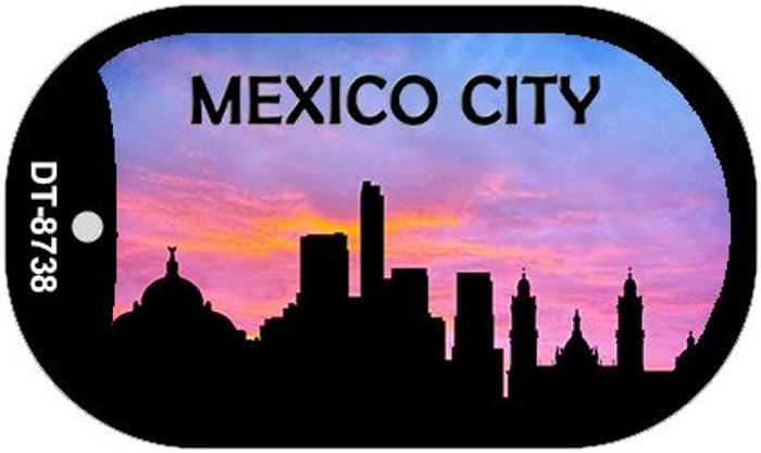 Mexico City Silhouette Novelty Metal Dog Tag Necklace DT-8738
