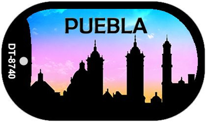 Puebla Silhouette Novelty Metal Dog Tag Necklace DT-8740