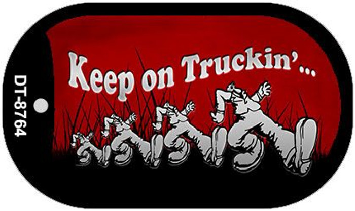 Keep on Truckin Novelty Metal Dog Tag Necklace DT-8764