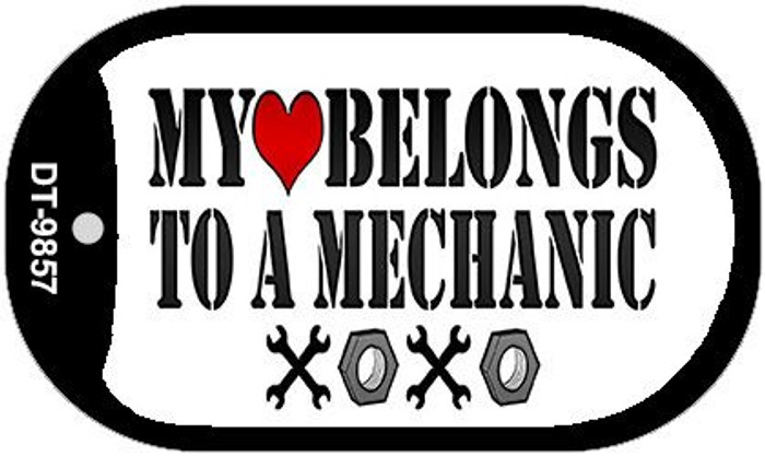 Heart to a Mechanic Novelty Metal Dog Tag Necklace DT-9857