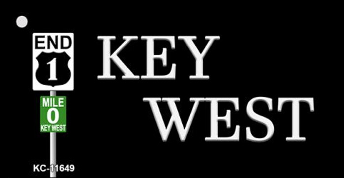Key West Highway Sign Novelty Metal Key Chain KC-11649