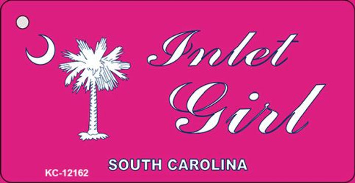 Inlet Girl SC Pink Novelty Metal Key Chain KC-12162
