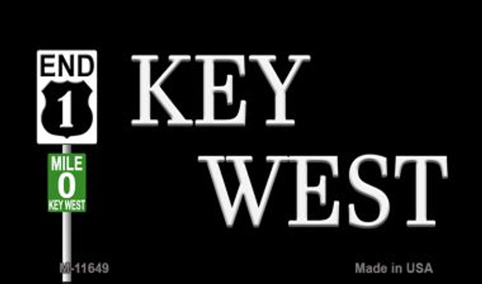 Key West Highway Sign Novelty Metal Magnet M-11649