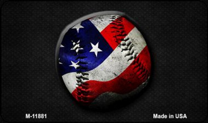 American Baseball Novelty Metal Magnet M-11881
