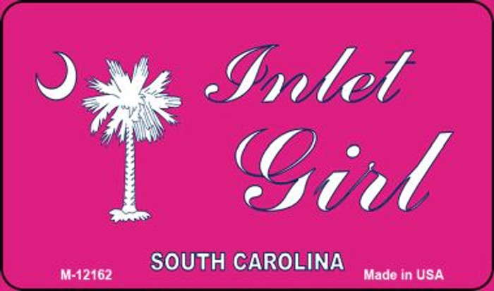 Inlet Girl SC Pink Novelty Metal Magnet M-12162