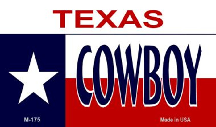 Cowboy Texas Novelty Metal Magnet M-175
