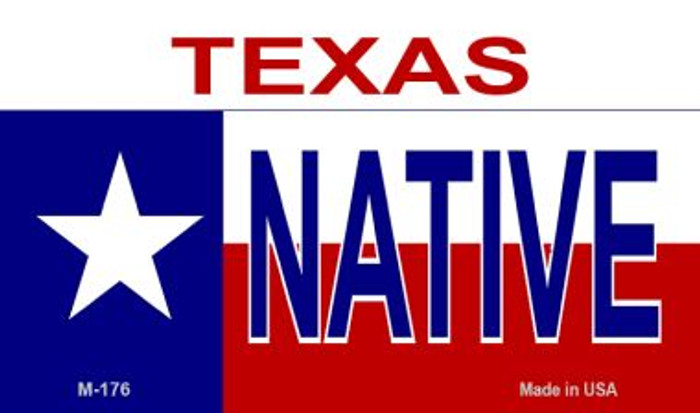 Native Texas Novelty Metal Magnet M-176