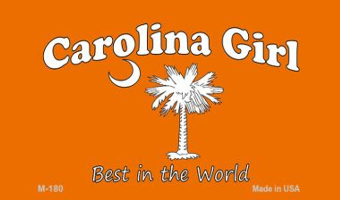 Carolina Girl Orange Novelty Metal Magnet M-180