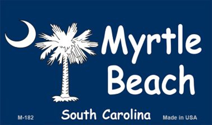 Myrtle Beach Blue Flag Novelty Metal Magnet M-182
