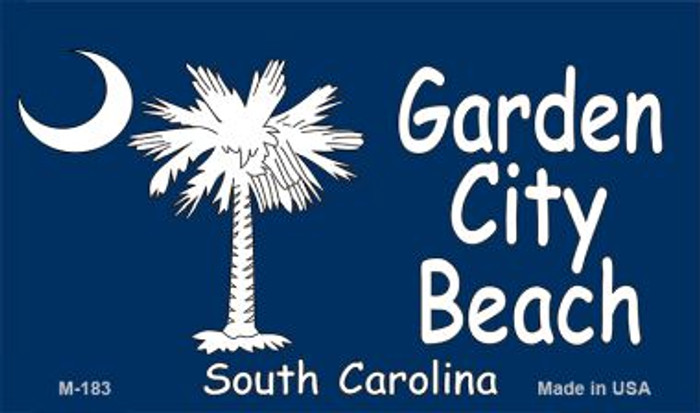 Garden City Beach Flag Novelty Metal Magnet M-183