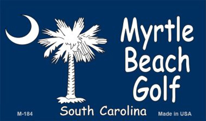 Myrtle Beach Golf Flag Novelty Metal Magnet M-184