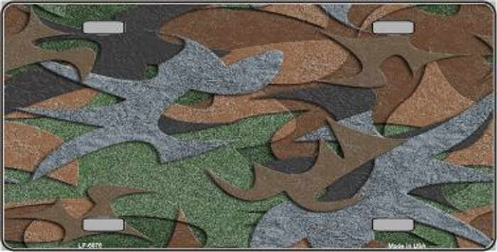 Camouflage Background Metal Novelty License Plate