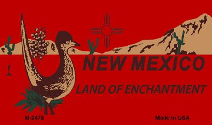 Roadrunner Red New Mexico Novelty Metal Magnet M-2478
