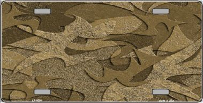 Brown Camouflage Background Metal Novelty License Plate