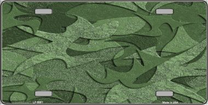Green Camouflage Background Metal Novelty License Plate LP-5081