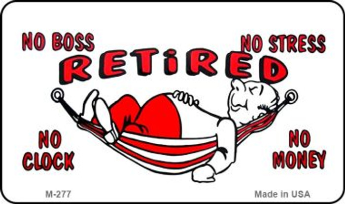 Retired with Hammock Novelty Metal Magnet M-277