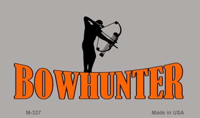 Bow Hunter Novelty Metal Magnet M-327