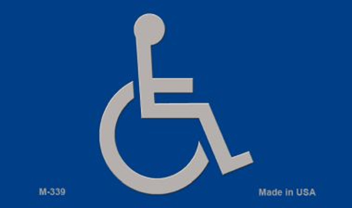 Handicap Logo Novelty Metal Magnet M-339