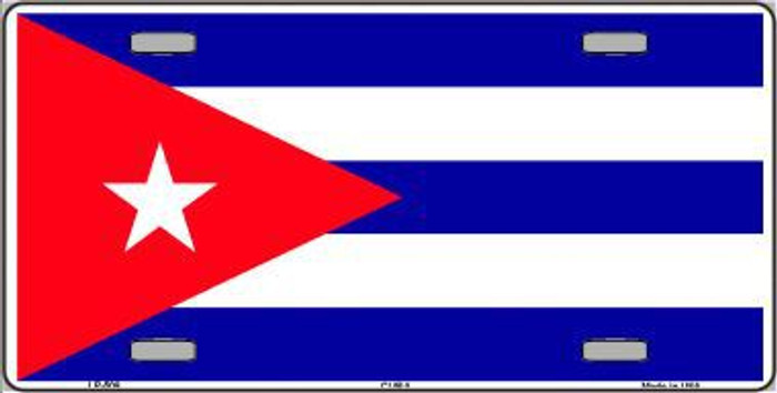 Cuba Flag Metal Novelty License Plate LP-509