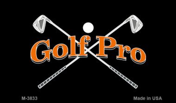 Golf Pro Novelty Metal Magnet M-3833