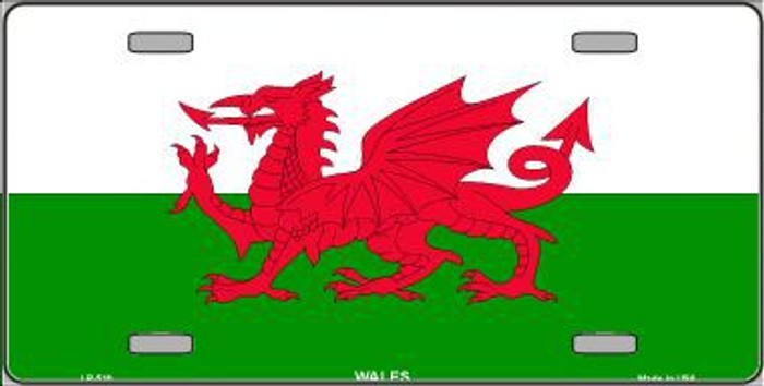 Wales Flag Metal Novelty License Plate LP-510