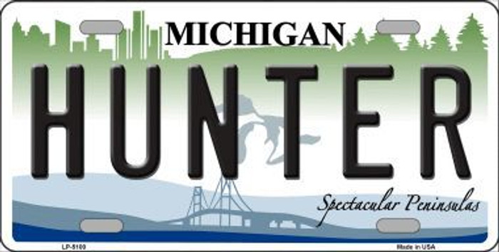 Hunter Michigan State Metal Novelty License Plate LP-5100