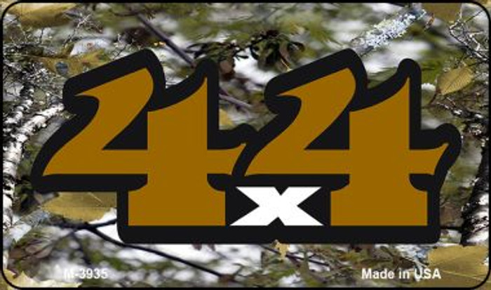 4x4 Camo Novelty Metal Magnet M-3935