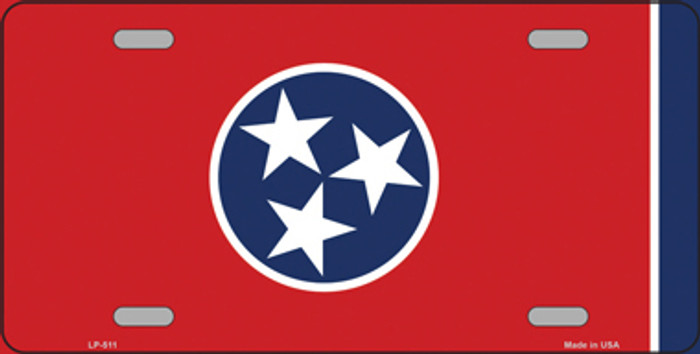 Tennessee State Flag Metal Novelty License Plate Tag LP-511