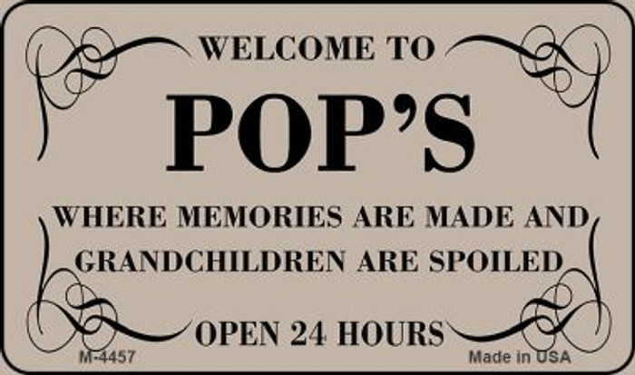 Welcome to Pops Novelty Metal Magnet M-4457