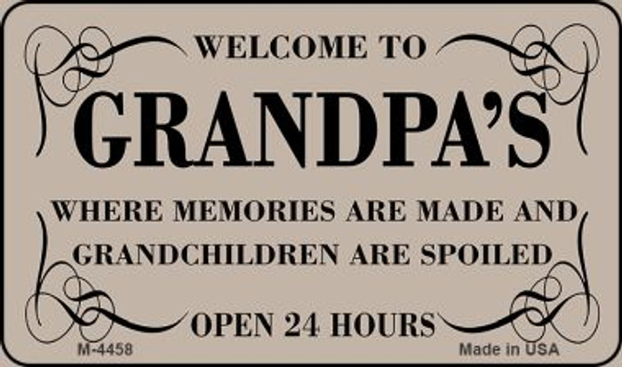 Welcome to Grandpas Novelty Metal Magnet M-4458