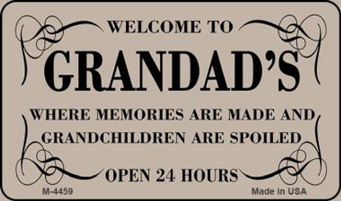 Welcome to Grandads Novelty Metal Magnet M-4459