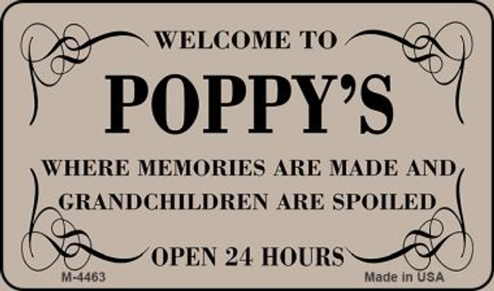 Welcome to Poppys Novelty Metal Magnet M-4463