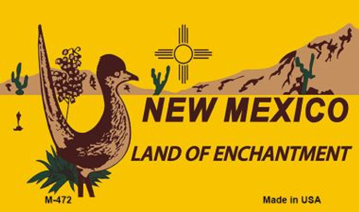 Roadrunner Yellow New Mexico Novelty Metal Magnet M-472
