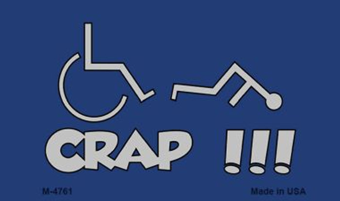 Handicap Crap Logo Novelty Metal Magnet M-4761