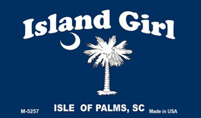 Island Girl Flag Novelty Metal Magnet M-5257