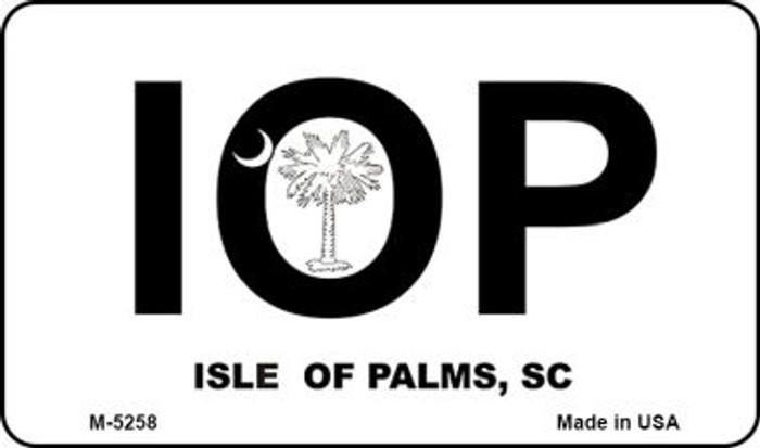 IOP White South Carolina Novelty Metal Magnet M-5258