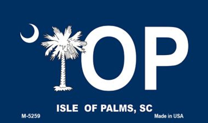 IOP Blue South Carolina Novelty Metal Magnet M-5259