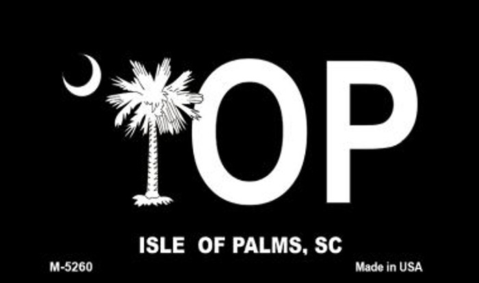 IOP Black South Carolina Novelty Metal Magnet M-5260