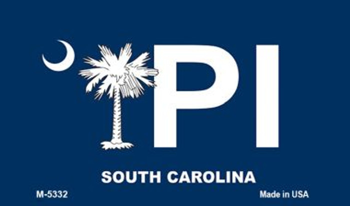 PI Blue South Carolina Novelty Metal Magnet M-5332