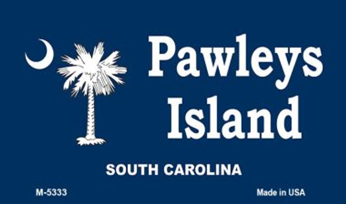 Pawleys Island Blue Novelty Metal Magnet M-5333