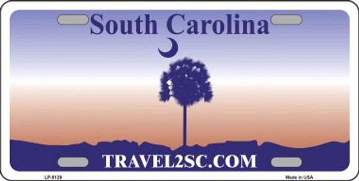 South Carolina Novelty State Background Blank Metal License Plate LP-5129