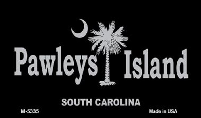 Pawleys Island Black Novelty Metal Magnet M-5335
