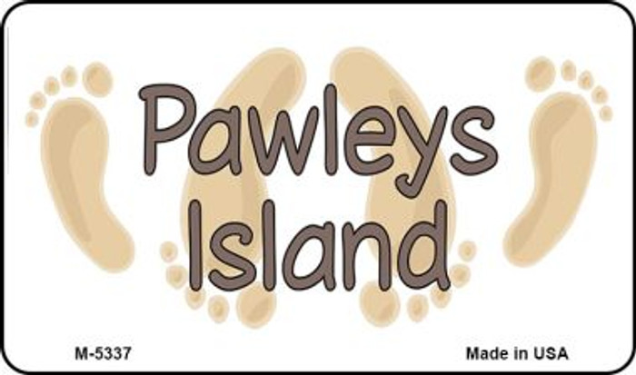 Pawleys Island Footprints Novelty Metal Magnet M-5337