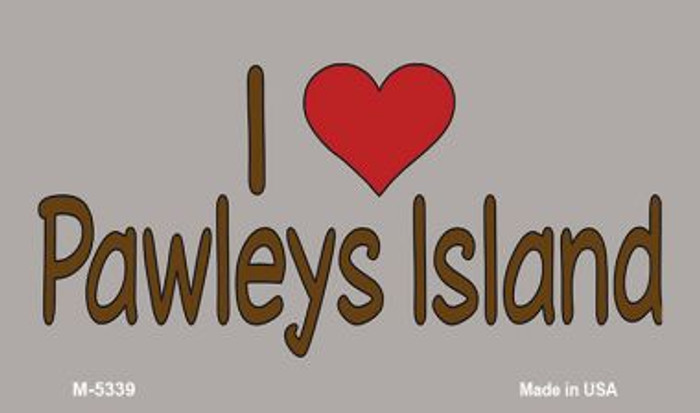 I Love Pawleys Island Novelty Metal Magnet M-5339